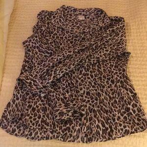 J Crew Leopard Print Button up shirt